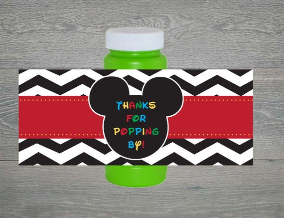 Mickey Mouse Thanks for Popping by Bubble labels by armcarthur