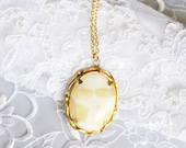 Natural Stone Pendant, Gold Tone Matching Necklace, HALF OFF Sale, Item No. B 164