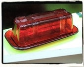 Ruby Red Butter Dish