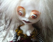 Polymer Clay Art Doll OOAK Creepy Peyton II