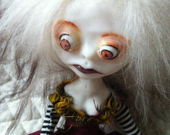 Polymer Clay Art Doll OOAK Creepy Peyton II