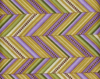 ZuZu's Petals border print fabric by Benartex, chevron stripe fabric
