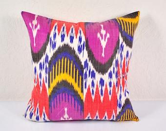 Sale! Ikat Pillow, Hand Woven Ikat Pillow Cover A518-1AA3, Ikat throw pillows, Designer pillows, Decorative pillows, Accent pillows