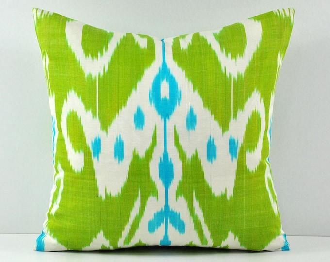 Ikat Pillow, Hand Woven Ikat Pillow Cover  spi550, Ikat throw pillows, Designer pillows, Decorative pillows, Accent pillows