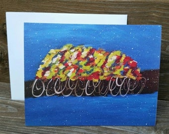"Abstract Print Notecard ""The Peloton"""
