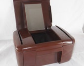The Jewel Kit Vintage Jewelry Box Multi Compartments 1990 Chocolate Brown