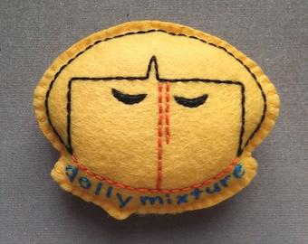Dolly Mixture (Yellow) felt badge