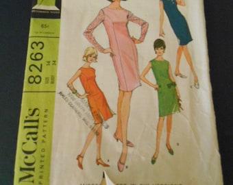 McCalls 8263, Dresses, 1960s, vintage