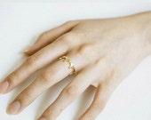 Holiday SALE 50% OFF Tiny crown ring in ... GOLD
