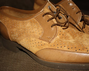 Caramel Colored 1970's Hush Puppy Shoes