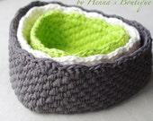 Crochet Basket Pattern - Triangle Baskets - PDF