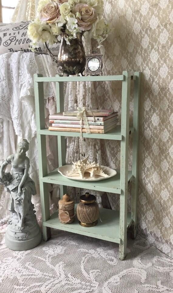 shabby bookshelf multi tier table potting bench plant table accent