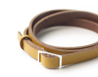Leather belt, small in different colours
