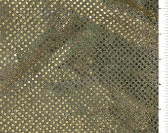 "43-44"" Black/Gold Sequin Fabric 17 Yards Wholesale By The Bolt"