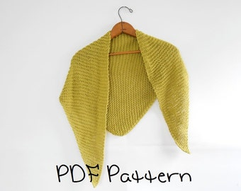 Shawl Knitting Pattern Easy Triangle Shawl Pattern Beginner