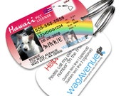 Dog Tags - Hawaii Driver's License Pet Tag - Personalized Pet Tags, Custom Dog Tags, Dog ID Tag, Dog Tags for Dogs, Dog License Tags, Cat ID