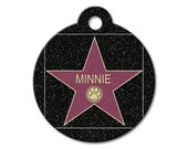 Cute Dog Tag - Hollywood Star - Personalized Pet Tags, Custom Pet Tags, Dog ID Tags, Cat ID Tags, Dog Tags for Dogs, Stainless Steel Pet Tag