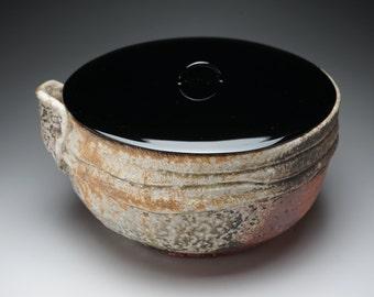 Shigaraki, anagama, ten-day anagama wood firing, with natural ash deposits bowl. mizu-67