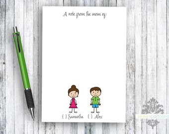 A Note from the Mom Of Personalized Notepad - Kids Notepad - Back to School - 5x7 Custom Notepad