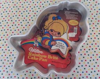 Rainbow Brite Cake Pan -- Wilton Cake Pan 1983 -- Birthday Cake -- Hallmark