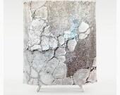 StoneVision, Shower Curtain, Decorative Bathroom Decor, Teal Turquoise, Brown, Photo Texture, Unique, 71 x 74, Etsy, ArtBJC