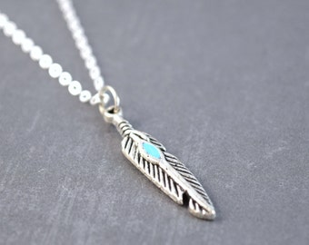 Peacock Feather Necklace,Peacock Feather Charm, Peacock Necklace, Peacock Jewelry, Feather Pendant, Sterling Silver, Feather Jewelry