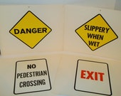 Lot of Vintage Flashcard Street Signs