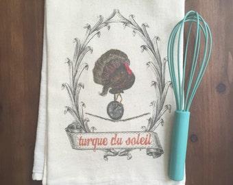Turque du Soleil Flour Sack Tea Towel