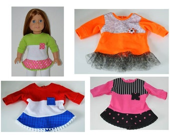 Flounce or Ruffled Tunic for American Girl Dolls
