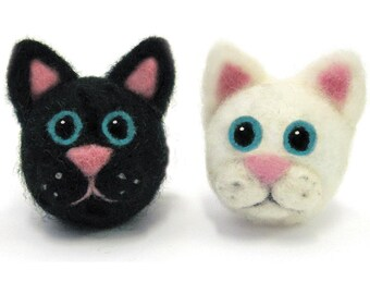 Dimensions  Cats Round and Wooly Needle Felting Kit
