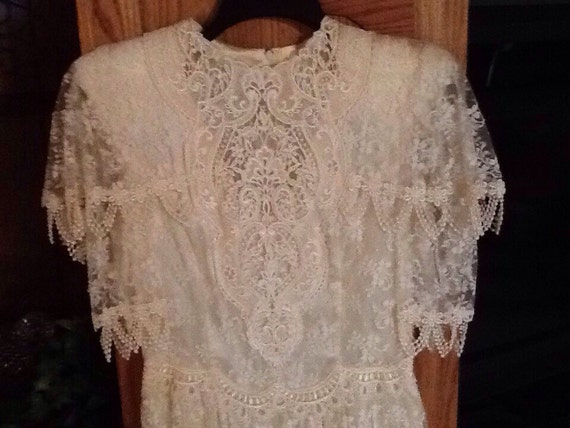Vintage jessica mcclintock lace bridal dress by grandystrunk for Jessica mcclintock wedding dresses outlet
