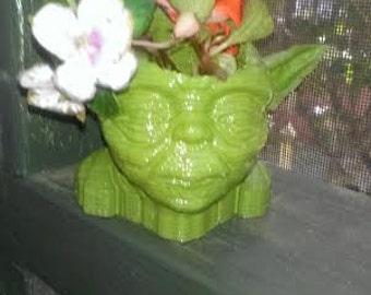 Star Wars Yoda  Planter 3D Printed Succulent planter
