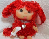 Red Puppy  Baby Dog  OOAK cute baby doll, Christmas Decoration,  made to order