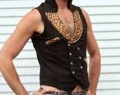 Mens Sexy Underwear/Boxer Briefs Gray leopard print