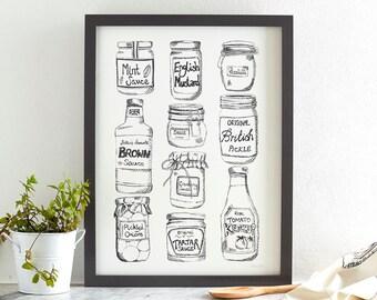 Condiments Screen Print