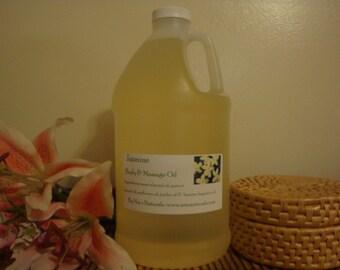 Jasmine Massage Oil - 1/2 Gallon 64oz Hair/Skin/Bath Oil