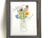 California Native Flowers Art - 13x19 custom print