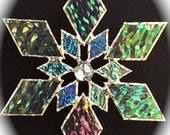 stained glass snowflake suncatcher (design 1C)
