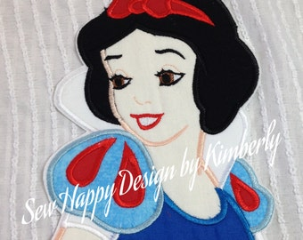 Snow White Iron on Appliqué patch