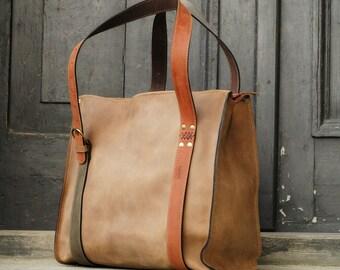 handmade woman leather handbag smaller size bag Big Lili