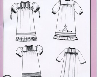 Baby Daygowns -Book VI.  Heirloom Daygown Designs from the 1920's ....Yoke Design