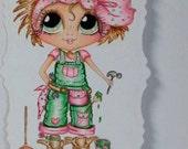 INSTANT DOWMLOAD Digital Digi Stamps Big Eye Big Head Dolls Digi Handy Girl Bestie By Sherri Baldy
