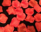 200 Red Rose Petals, High Quality Silk Rose Petals, Flower Girl Basket Petals, Wedding Decoration, Table decor, Table Scatter Flowers