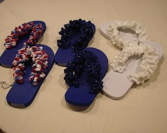 Custom Ruffled Flip Flops