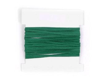 Stretch Elastic 1/8th inch Skinny Elastic for making headbands  - 5 10 or 20 yard bundles - EMERALD