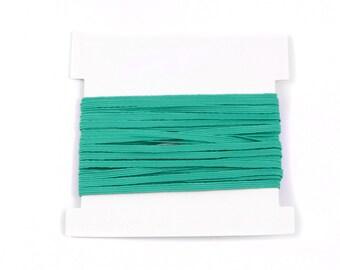 Elastic, 1/8th inch flat elastic for DIY Making Baby Headbands, skinny elastic - 5, 10, or 20 yard bundles - PARROT GREEN