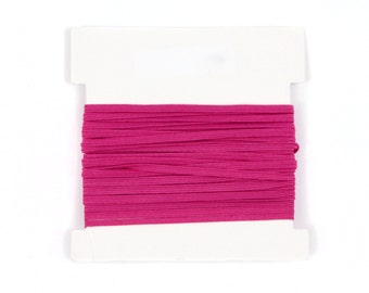Elastic, 1/8th inch flat elastic for DIY Making Baby Headbands, skinny elastic - 5, 10, or 20 yard bundles - RASPBERRY