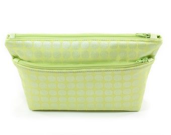 Small Lime Green Pouch Cosmetic Travel Bag