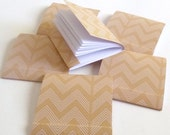 matchbook notepads brown chevron Set of 6 square matchbooks, mini jotters, party favors, customer favors, promo, stocking stuffer