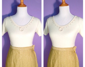1950 S Peasant Dress Embroidered Mexican Skirt Blouse Show